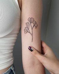 הילה - contrast tattoo